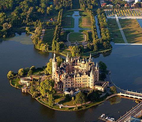 Schwerin Castle, Lennéstraße 1, 19053, Schwerin, Germany... www.castlesandmanorhouses.com ... Schwerin Castle is situated on an island in the city's main lake, the Schweriner See. For centuries the palace was the home of the dukes and grand dukes of Mecklenburg and later Mecklenburg-Schwerin. It currently serves as the seat of the Mecklenburg-Vorpommern Landtag (state parliament). It is regarded as one of the most important works of romantic Historicism in Europe.