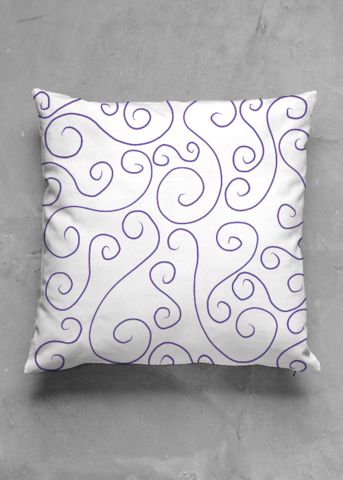 Spiral Ocean - luxury pillow design by Charles Bridge 7x - buy in my VIDA e-shop    #luxurious#pillow#interior#interiordecor#art#artprint#fabricprint#sofa#spring#ocean#oceaninspiration#waves#water#waterart#artist