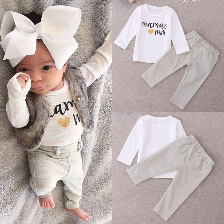 $5.30 (Buy here: https://alitems.com/g/1e8d114494ebda23ff8b16525dc3e8/?i=5&ulp=https%3A%2F%2Fwww.aliexpress.com%2Fitem%2FNewborn-Baby-Girl-Boy-Mamas-Mini-Tops-T-shirt-Long-Pants-2pcs-Outfits-Set-0-24M%2F32754646015.html ) Newborn Baby Girl Boy Mamas Mini Tops T-shirt+ Long Pants 2pcs Outfits Set 0-24M for just $5.30