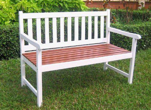 4 Foot Painted Wooden Garden Bench in White https   homepatiogarden net. Best 25  Wooden garden benches ideas only on Pinterest   Craftsman