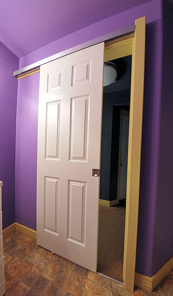 Pocket Door On The Outside Of The Wall Bathroom