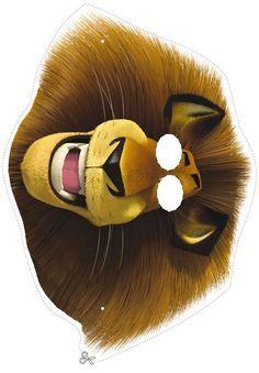 Madagascar printable masks