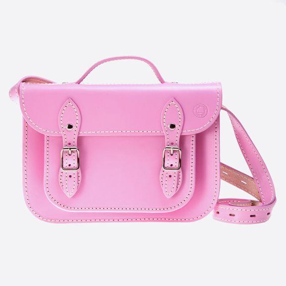 Old School Satchel - 11 Inch Satchel – Pink
