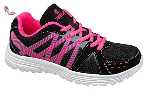 gibra , Baskets pour femme - noir - noir/rose, - Chaussures gibra (*Partner-Link)