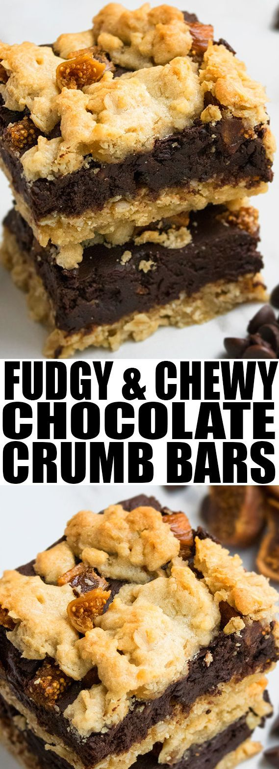 Easy CHOCOLATE OATMEAL BARS recipe, also known as CHOCOLATE CRUMB BARS, made with simple ingredients. This easy dessert or easy snack is rich and fudgy with a chewy texture. {Ad}  From cakewhiz.com #chocolate #oatmeal #recipe #dessert #snack