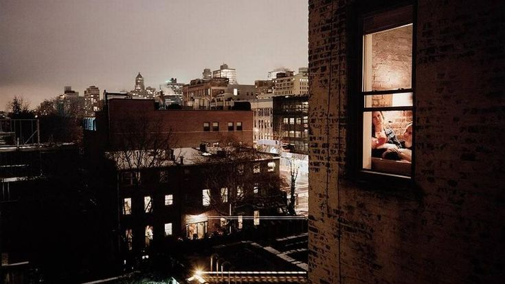 Out My Window, Brooklyn, Snow, 2007, an inket print by Gail Albert Halaban is on exhibit at the Wichita Art Museum. The Surveillance exhibit is on loan from the Nelson-Atkins Museum of Art, Kansas City, Missouri.