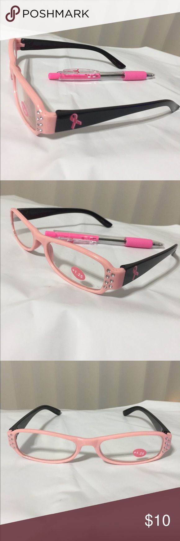 Breast Cancer Awareness Pink Reading Glasses & Pen Breast Cancer Awareness Reading Glasses.  We are adding a Pink Breast Cancer Awareness Pen at no extra charge making this an even better deal. When you order, the size is the power rating for the Magnification strength of the Glasses. Greenbrier International Accessories Glasses