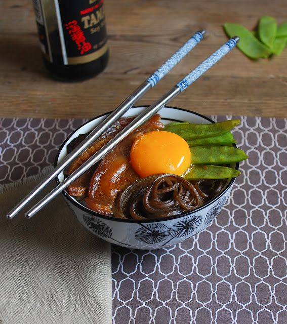 Miso soup with soba noodles and shiitake mushroom (gluten free) - Sopa de miso con fideos soba y shiitake {sin gluten}