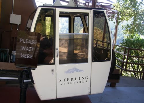 Sterling Vineyards famous tram...a gorgeous view to be had!