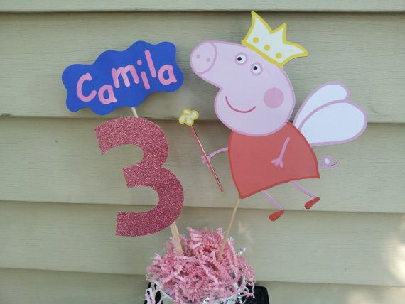 Pig girl party decoration centerpiece by diapercake4less on Etsy