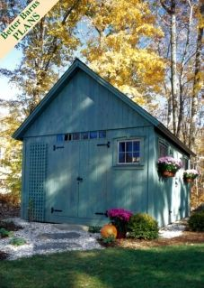 This is an interesting shed design that I would like to build for a client.
