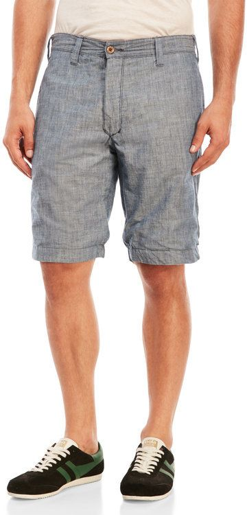 tailor vintage Reversible Chambray \u0026 Plaid Shorts