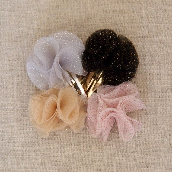 Winter Bloom Hair Clip / French Pouf Hair Pin / by sweetlittledoor