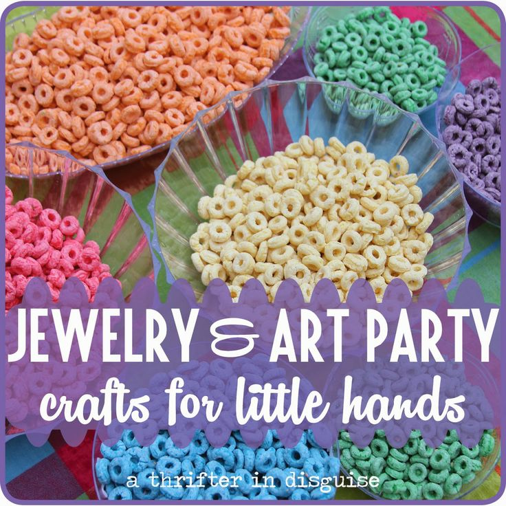 A Thrifter in Disguise: Jewelry & Art Themed Girls Birthday Party