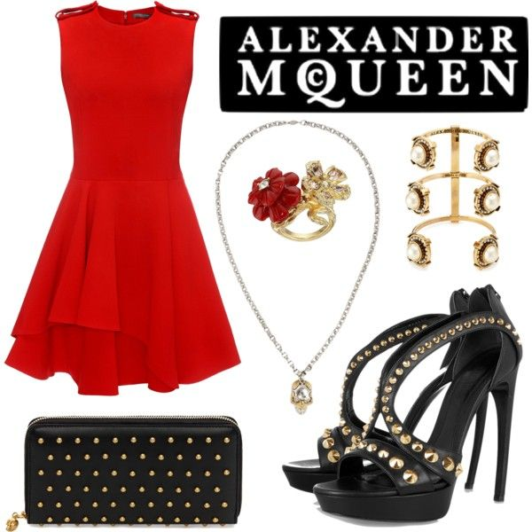 Alexander McQueen. by amy-b1988 on Polyvore featuring polyvore fashion style Alexander McQueen