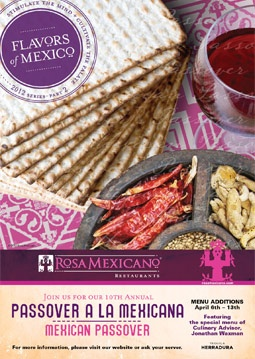 Don't want to cook but want a Mexican Passover adventure? Take a look at this offering available at locations throughout the US: Mexicans Passov, Passov Adventure
