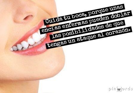 Cuida tu boca, porque unas encías enfermas pueden doblar las posibilidades de que tengas un ataque al corazón. https://www.saluspot.com/