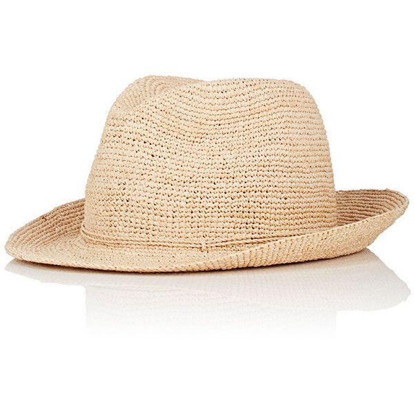 Kaminsky XY Men's Abaka Raffia Fedora (4.720 ARS) ❤ liked on Polyvore featuring men's fashion, men's accessories, men's hats, nude, mens fedora hats, men's brimmed hats, mens hats fedora, mens wide brim fedora hats and mens fedora