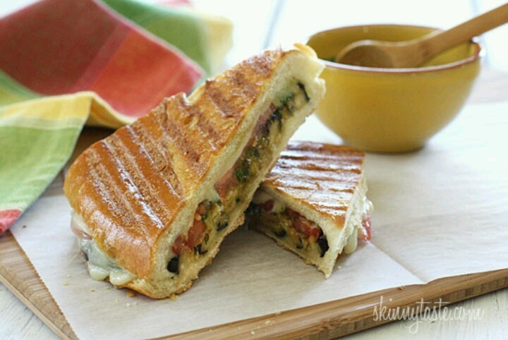 Eggplant panini with pesto | Favorite Recipes | Pinterest