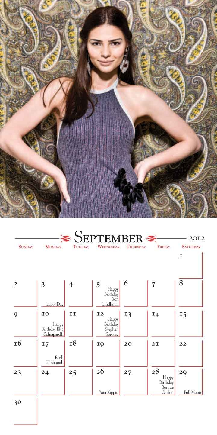The Manhattan Vintage Calendar is a mini wall calendar that features fashion shots to showcase the clothing sold by show vendors. The calendar also highlights the Vintage Clothing Show dates throughout the year. #fashion #calendar #vintage #clothing www.yearbox.com