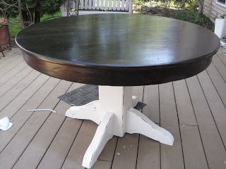 fabulously flawed refinished dining table - Refinish Table