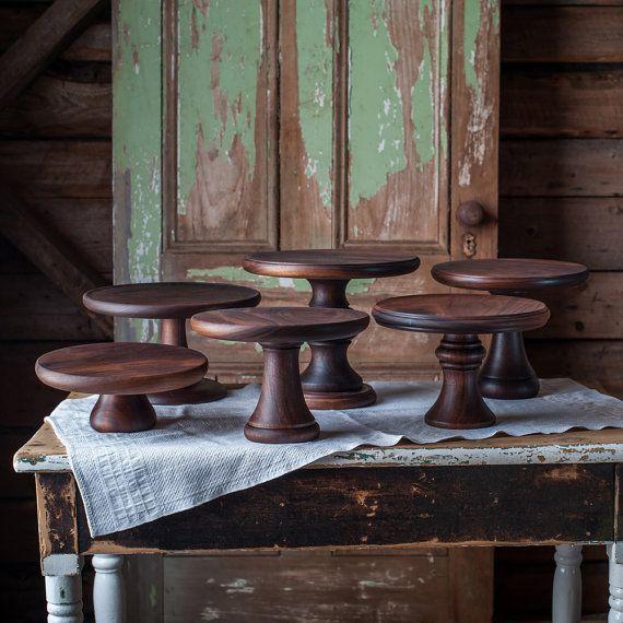https://www.etsy.com/listing/247935490/walnut-cake-stand-turned-wood-cake