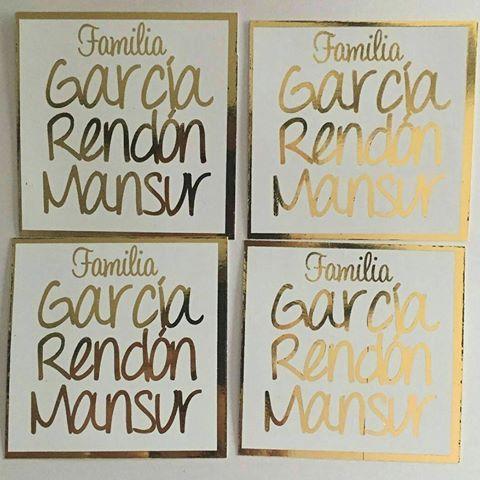 Tarjetas personalizadas familiares! #tarjeta #tarjeteria  #personalizadas #familiares #foil #dorado #papeleriasocial #stationery #stationeryaddict #handmade #costumemade #familia #likeforlike #regalo #detalle #mjmdetalles #cdvictoria #monterrey #spgg