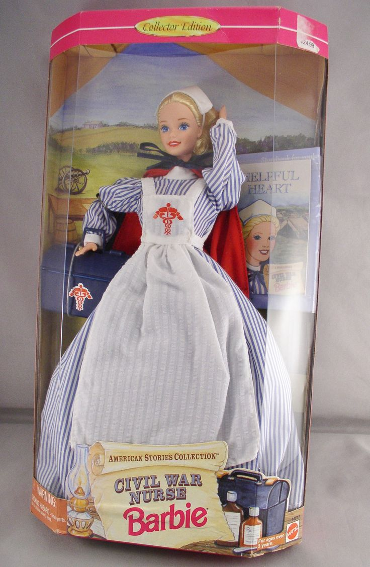 Civil War Nurse Barbie.... Vintage Barbie Doll - American Stories Collection - Mattel 14612 - Never Removed From Box - Barbie Doll by SMNtoys on Etsy