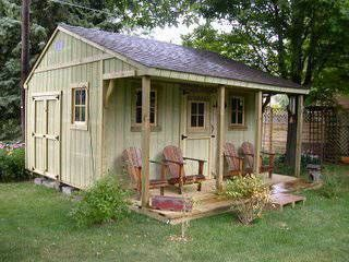 Backyard cabin - I want one of these for my stained glass workshop!