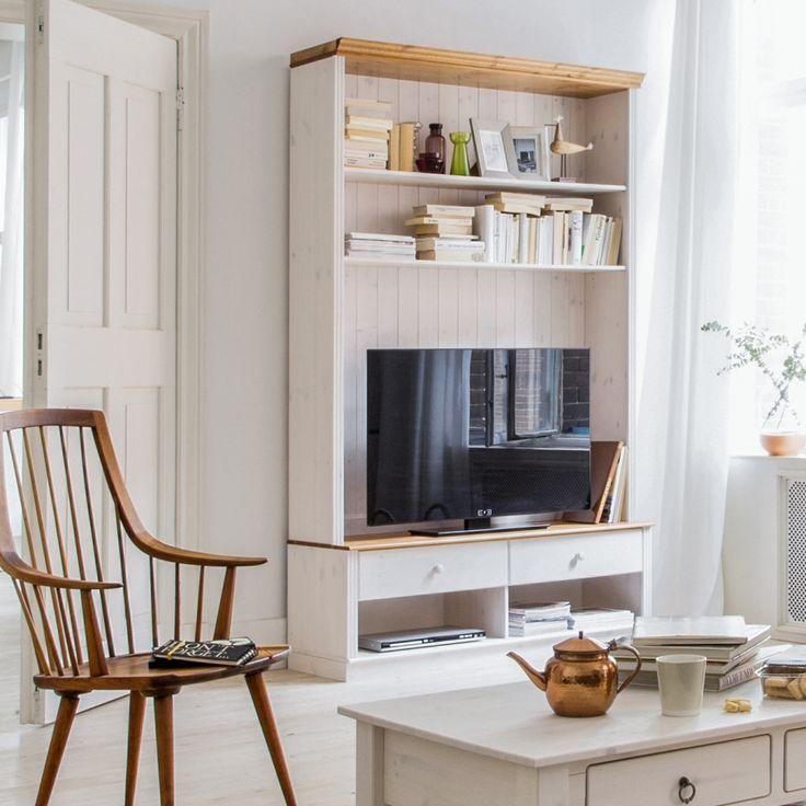 Die besten 25+ Tv wand landhaus Ideen auf Pinterest Basket tv - wohnzimmermbel landhausstil weiss