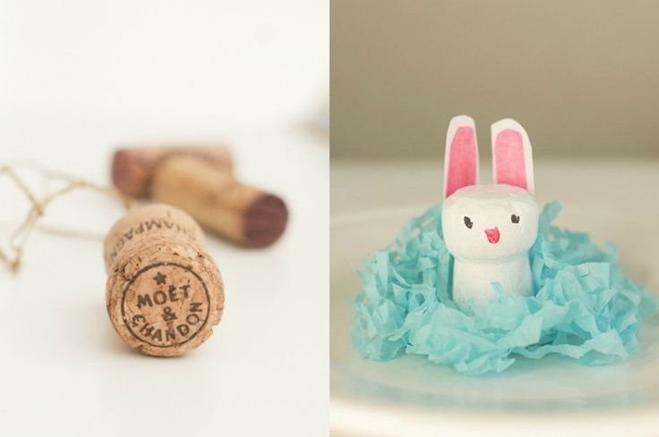 Why go all the way to the craft supply store when you can make these fun and easy Easter crafts with household objects you already have at home?