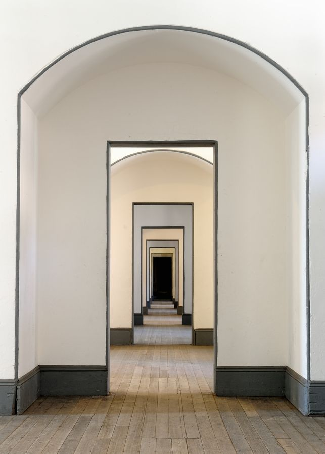 A modern example of the french renaissance term - 'enfillade' - view of a space through multiple rooms.