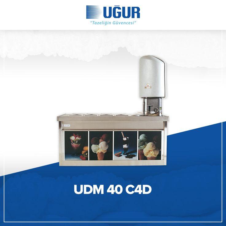UDM 40 C4D birçok özelliğe sahip. Bunlar;  380 V / 5 Hz salamuralı soğutma sistemleri, sağlığa uygun krom çevirme kazanı ve paslanmaz krom nikel saçtan üretilen üst banko, iç hazneler, hazne kapakları. #uğur #uğursoğutma