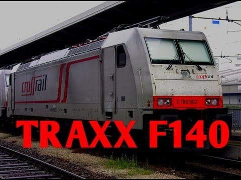 Bombardier Traxx F140DC and EU07 with a heavy goods - YouTube