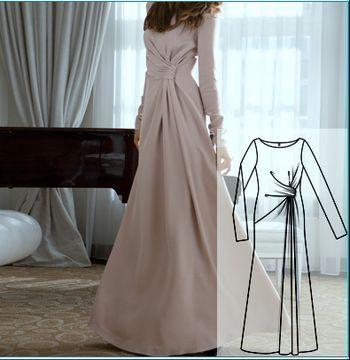 красивое длинное платье... очень красивое!!! надо попробовать сшить