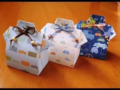 (1) Cómo hacer caja en forma de camisa para el DIA DEL PADRE / Father´s Day cr…