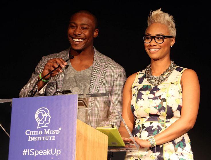 Brandon Marshall Personality Disorder | Brandon Marshall and Michi Marshall onstage at Speak Up For Kids Mind ...