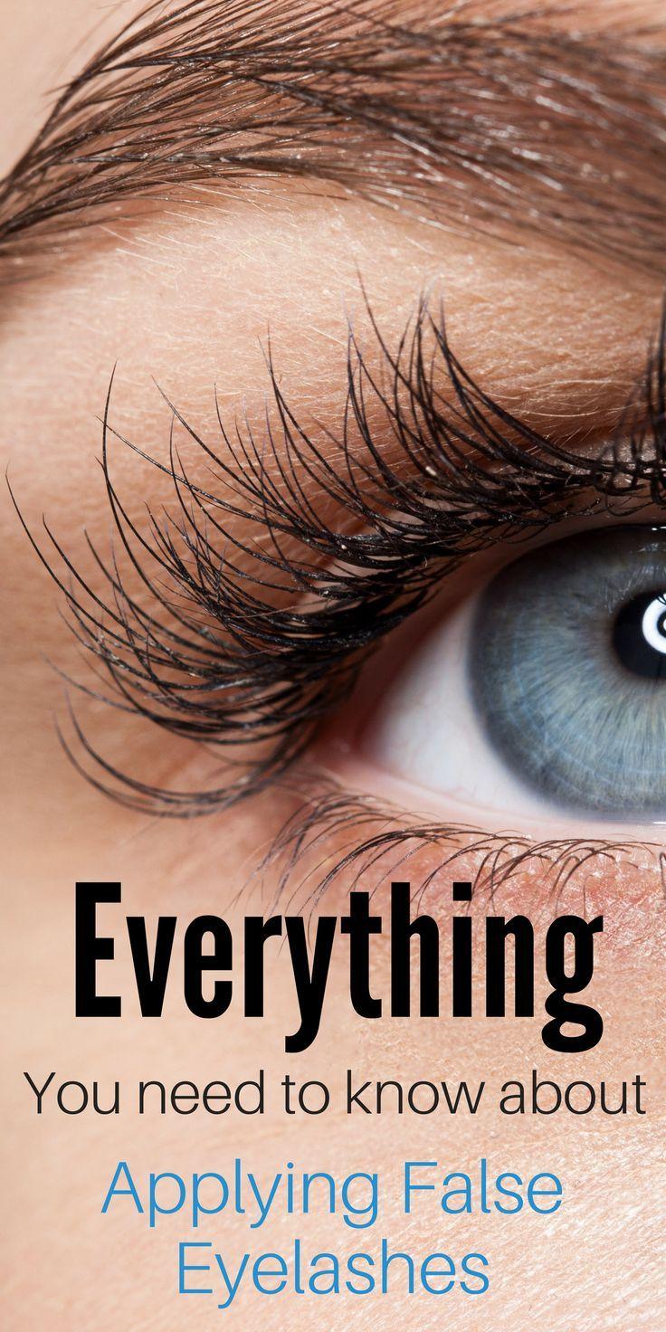 how to put on false eyelashes perfectly