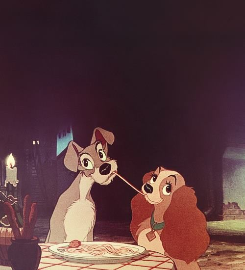 Lady and the Tramp.....one of my favorite Disney's along with The Aristocats and Robin Hood (with Robin as a fox, Little John as a bear and the story teller as a rooster :-). )
