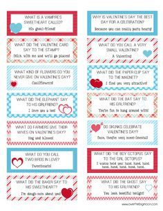 FREE Printable Valentines Lunch Box Joke Cards! | Over The Big Moon