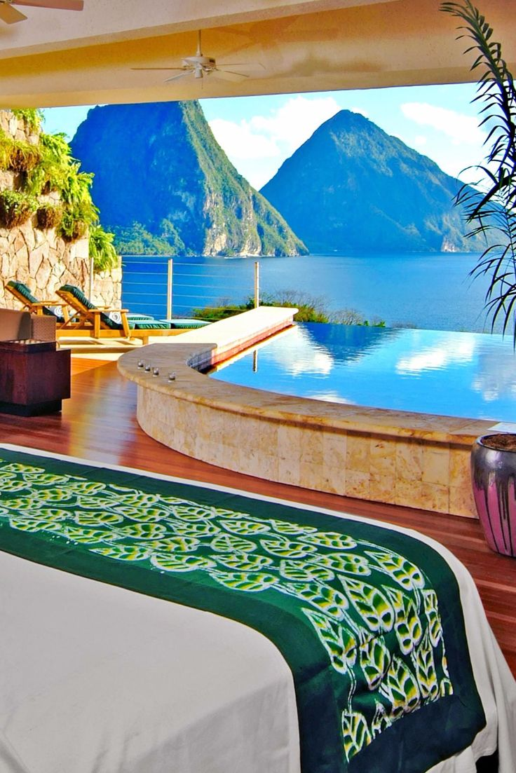 What We Love: a private infinity pool just steps from bed and views of the iconic Piton. Jade Mountain Resort (Soufriere, St. Lucia) - Jetsetter