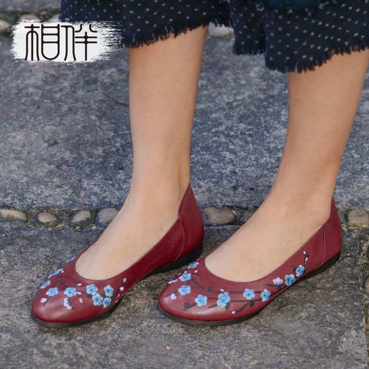 >> Click to Buy << 2017 female flat shoes comfortable casual women shoes hand embroidered flower ethnic trend soft bottom women flats #Affiliate