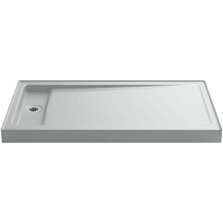 Single Threshold Shower Base In Ice Grey