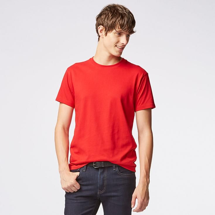 MEN PACKAGED DRY CREW NECK SHORT SLEEVE T-SHIRT | UNIQLO
