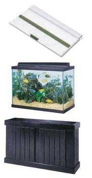75 gallon aquarium drilled 75 gallon corner flo pre for Fish tank and stand combo