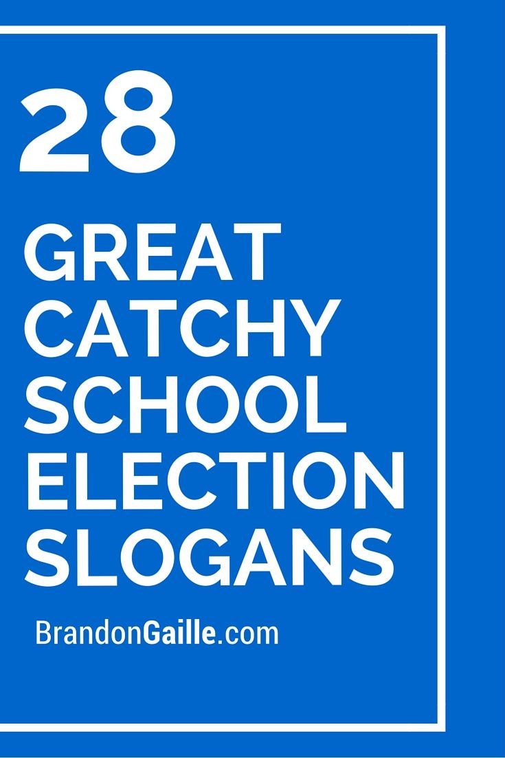 28 Great Catchy School Election Slogans