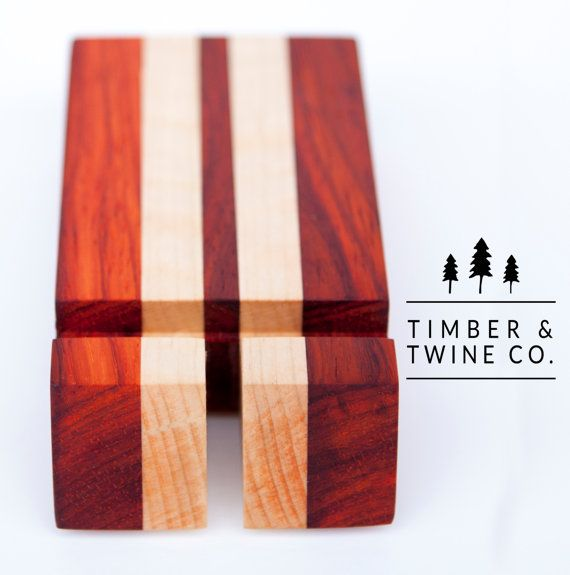 Handmade Hardwood IPhone 5/6 Stand by timberandtwineco on Etsy
