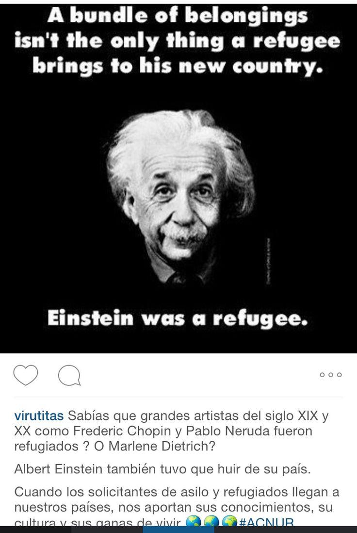 Refugee Quotes Einstein También Fue Un Refugiado. Varios  Pinterest