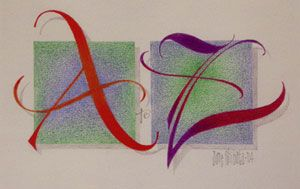 Jane Shibata sample picture for class at calligraph society
