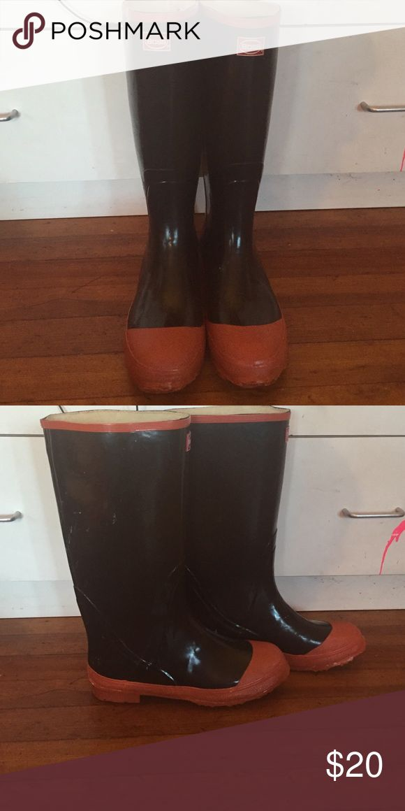 Men's Rain Boots Never worn, great condition. Boss Shoes Rain & Snow Boots